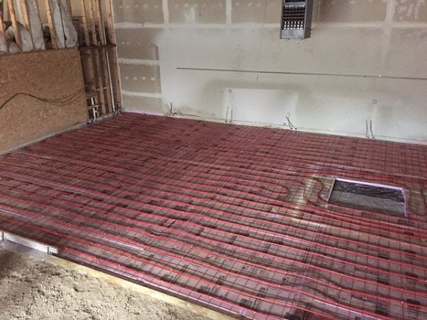 Install Commercial In-Floor Heat